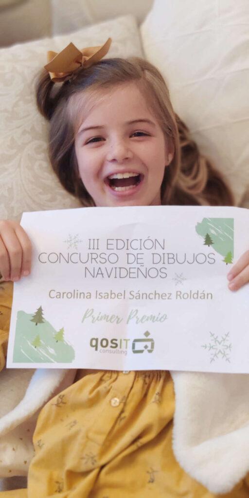 Ganadora Primer Premio III Concurso Dibujos Navidenos qosITconsulting
