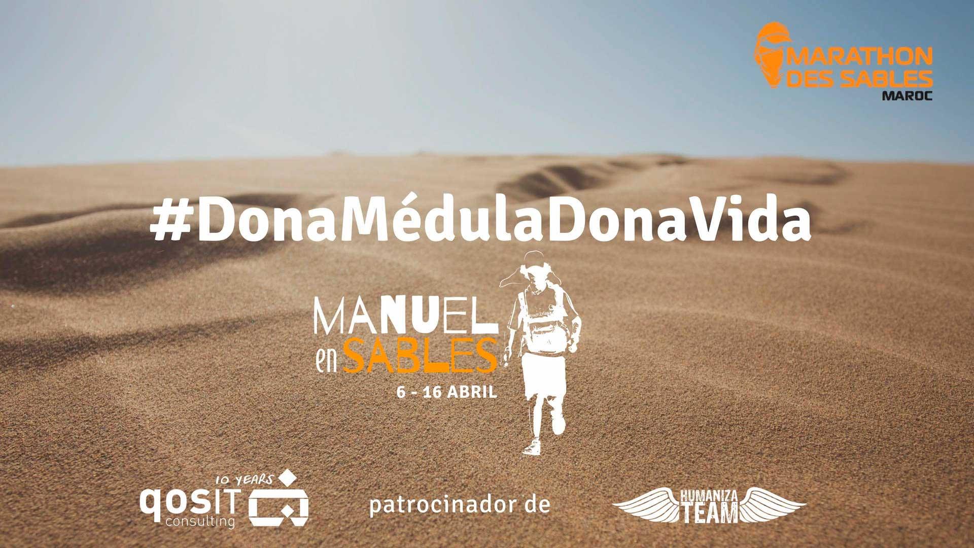 Manuel en Sables 2018 #DonaMédulaDonaVida qosITconsulting