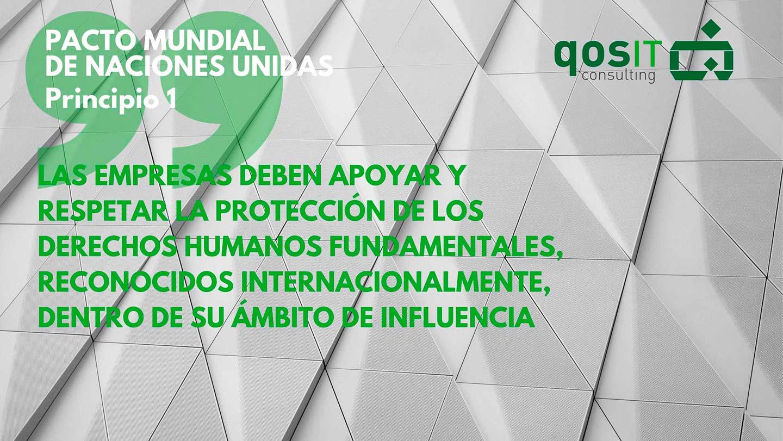 Principio 1 Pacto Mundial - qosITconsulting