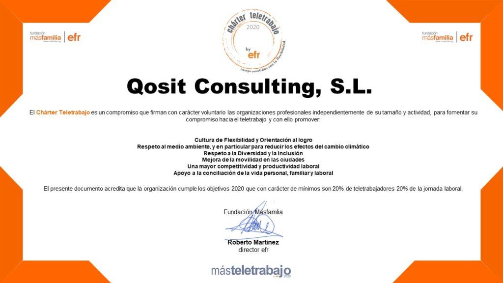 qosIT firmante del Charter de Teletrabajo