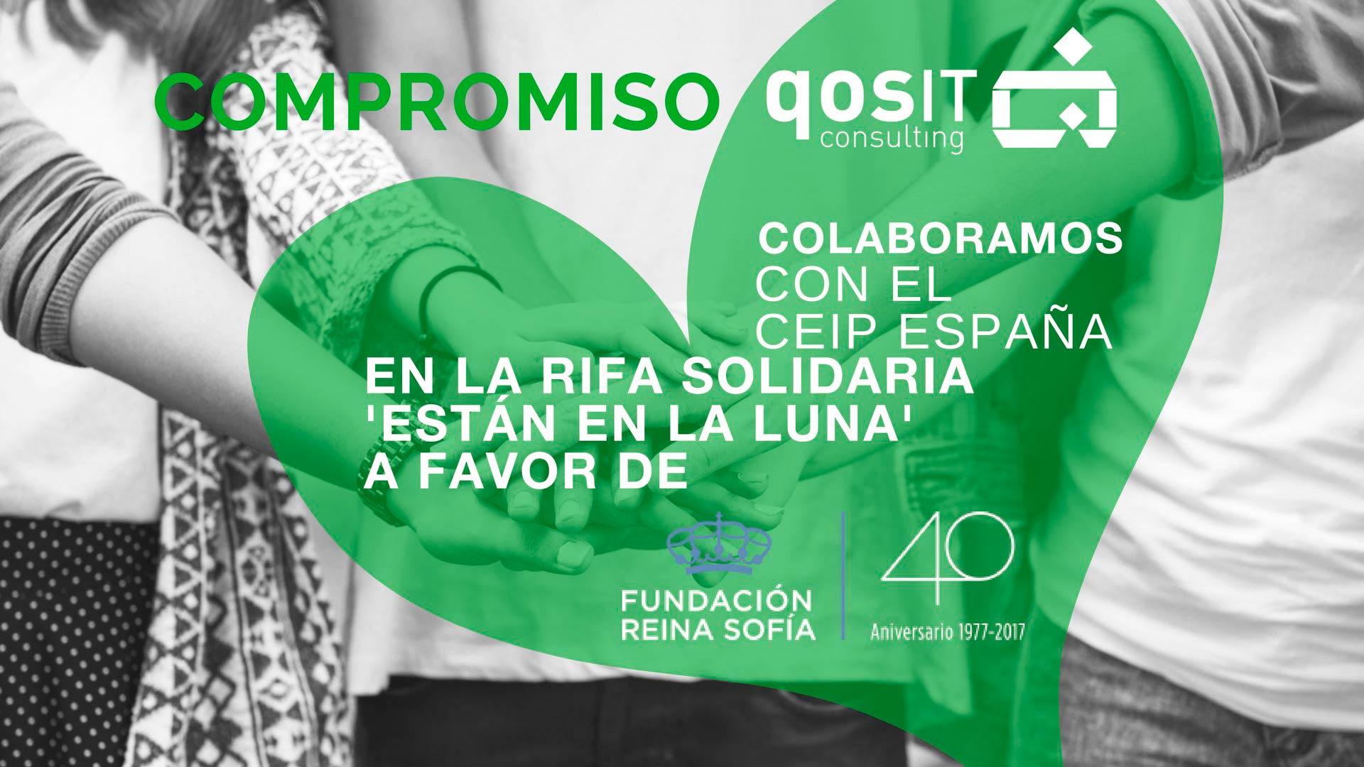 Rifa Solidaria Fundación Reina Sofía CEIP España - qosITconsulting