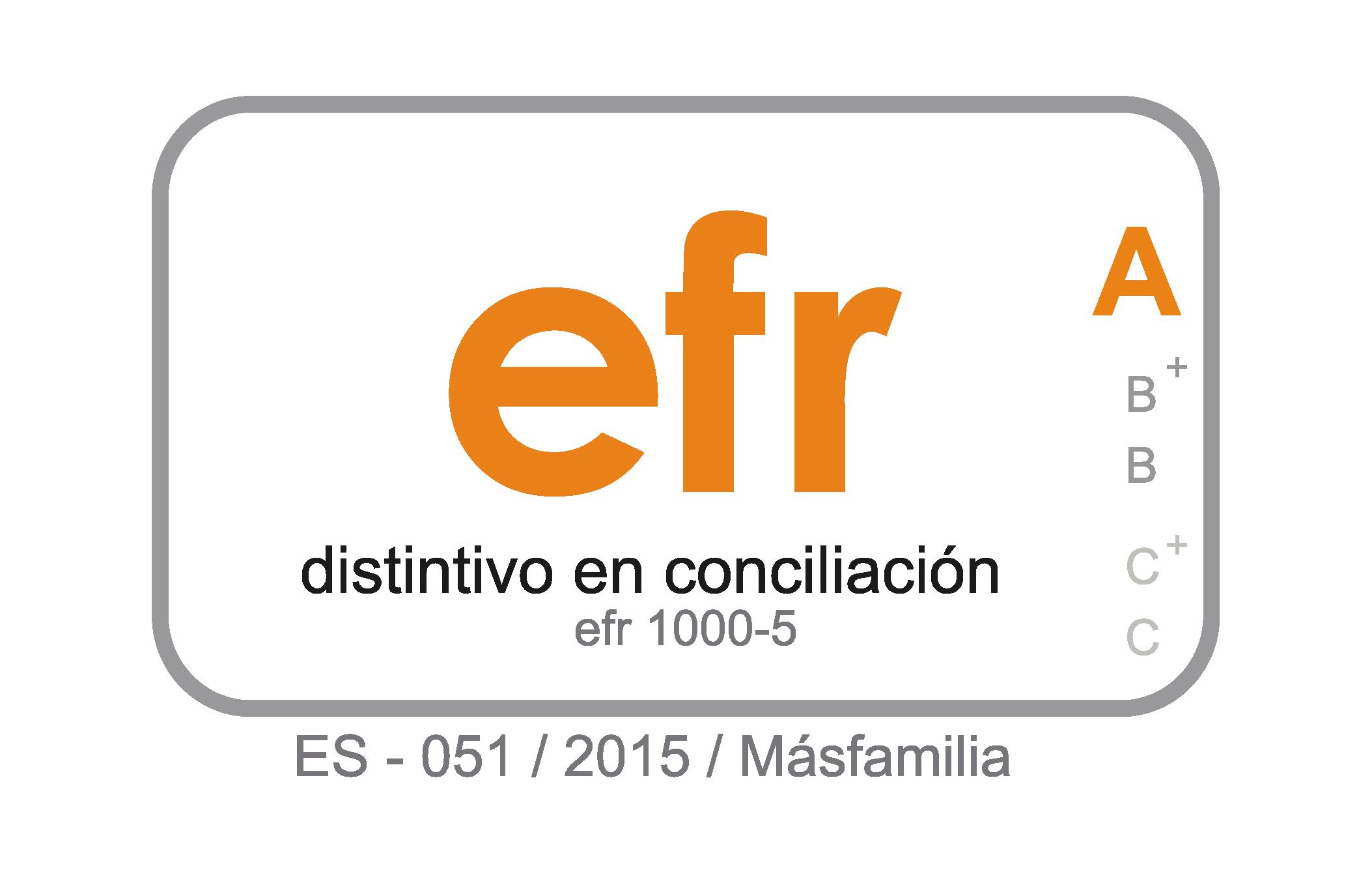 Sello Certificación efr A 2019