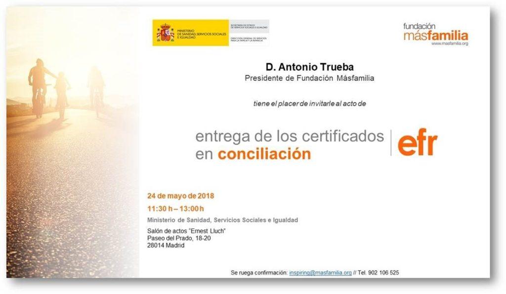efr entrega certificados en conciliación