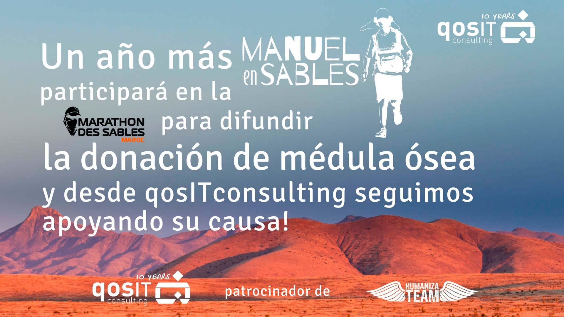 qosITconsulting Manuel en Sables 2018 #DonaMédulaDonaVida