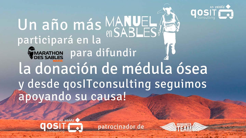 qosITconsulting patrocinador HumanizaTEam Manuel en Sables 2018